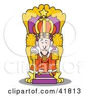 Royal King Seated At His Throne