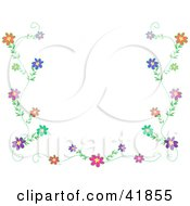 Clipart Illustration Of A Colorful Vine With Flower Border by bpearth