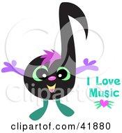 Happy Black Music Note