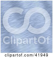 Clipart Illustration Of A Brushed Blue Aluminum Background