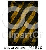 Background Of Dark And Distressed Hazard Stripes