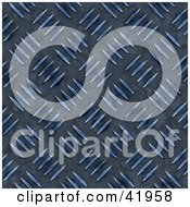 Clipart Illustration Of A Dark Blue Diamond Plate Metal Background