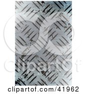 Clipart Illustration Of A Worn Diamond Plate Metal Background