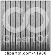 Clipart Illustration Of A Background Of Corrugated Metal by Arena Creative