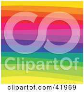 Clipart Illustration Of A Colorful Horizontal Rainbow Background by Arena Creative