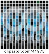 Clipart Illustration Of A Blue And Black Pixel Background