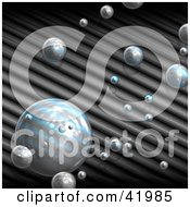 Clipart Illustration Of A Background Of Reflective Bubbles Over Ridges by Arena Creative