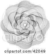 Clipart Illustration of an Ornate Guilloche Design Spiraling Out From The Center by stockillustrations #COLLC42049-0101