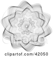 Ornate Flower Shaped Guilloche Design