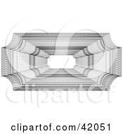 Clipart Illustration Of An Ornate Rectangular Guilloche Design With Text Space In The Center by stockillustrations