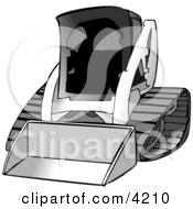 Bobcat Skid Steer Loader Clipart by djart