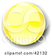 Yellow Shiny Website Button With Shading