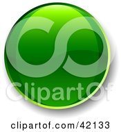 Clipart Illustration Of A Green Shiny Website Button With Shading