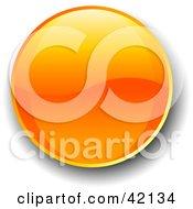 Orange Shiny Website Button With Shading