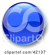Clipart Illustration Of A Blue Shiny Website Button With Shading