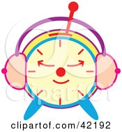 Clipart Illustration Of A Sleeping Colorful Alarm Clock