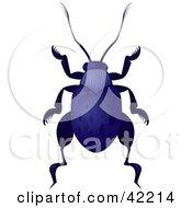 Clipart Illustration Of A Dark Blue Beetle