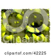 Clipart Illustration Of A Background Of Grungy Pears by Prawny