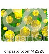 Clipart Illustration Of A Background Of Grungy Lemon Slices by Prawny
