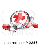 First Aid Button With Pill Capsules