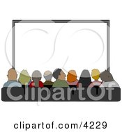 Audience Sitting In Their Seats At The Movie Theatre Clipart by djart #COLLC4229-0006