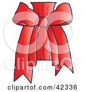 Clipart Illustration Of A Pretty Red Bow Knot