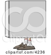 Man In A Box Clipart