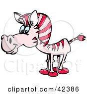 Curious Pink Zebra