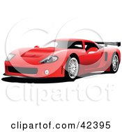 Clipart Illustration Of A Sporty Red Car by leonid