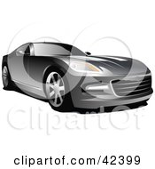 Clipart Illustration Of A Sporty Silver Car