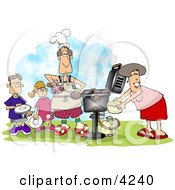 Family BBQ Clipart
