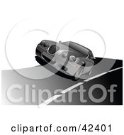 Clipart Illustration Of A Silver Car Driving On A Road by leonid