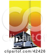 Clipart Illustration Of A Zipper Closing Down On A Tourist Bus by leonid