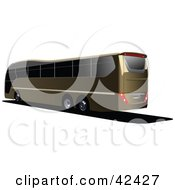 Clipart Illustration Of A Brown Tourist Bus With Tinted Windows by leonid