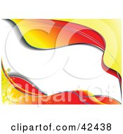 Clipart Illustration Of Waves Of Orange Red And Yellow Framing White by leonid