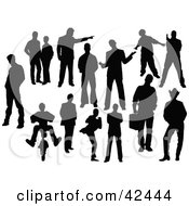 Clipart Illustration Of Black Male Silhouettes