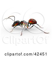 Clipart Illustration Of An Ant With A Flame Paint Job On Its Side