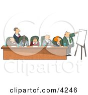 Businessmen And Businesswomen During A Business Meeting Clipart by djart
