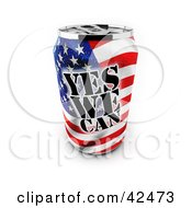 Clipart Illustration Of A Patriotic Yes We Can Soda Can With An American Flag