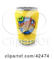 Clipart Illustration Of A Yellow Sugar Bomb Soda Beverage In A Can by stockillustrations