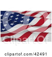 Clipart Illustration Of A Wavy Textured American Flag With Stars And Stripes