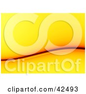 Clipart Illustration Of A Yellow Background With A Red And Orange Wave by stockillustrations
