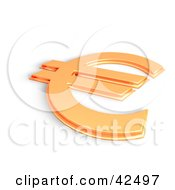 Clipart Illustration Of A Shiny Orange 3d Euro Symbol by MacX