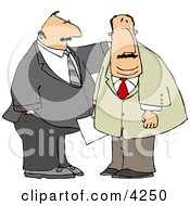 Business Partners Standing Together Clipart