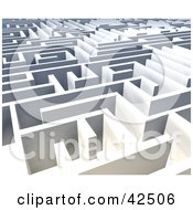 Clipart Illustration Of Walls Of A Vast Labyrinth #42506 by MacX