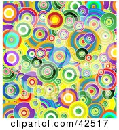 Clipart Illustration Of A Vibrant Background Of Colorful Circles by MacX