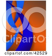 Clipart Illustration Of An Orange Background With Blue Swooshes by Arena Creative