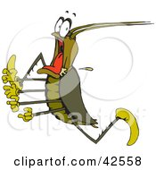 Clipart Illustration Of A Scared Cockroach Running