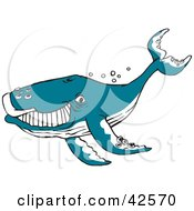 Clipart Illustration Of A Happy Blue Whale