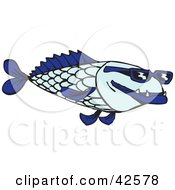 Clipart Illustration Of A Cool Blue Fish Wearing Shades
